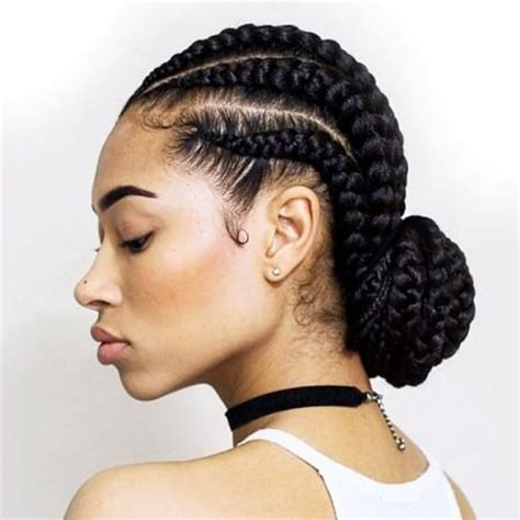 Cornrow Bun Hairstyles by Top 20 Easy Hairstyles For Hair