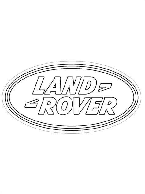 Coloring pages: Coloring pages: Land Rover - logo