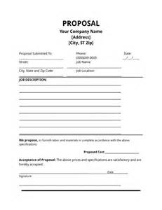 Job proposal template a job proposal is a single page document that