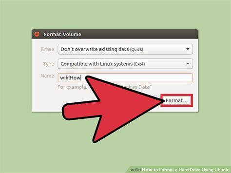 format  hard drive  ubuntu  pictures wikihow