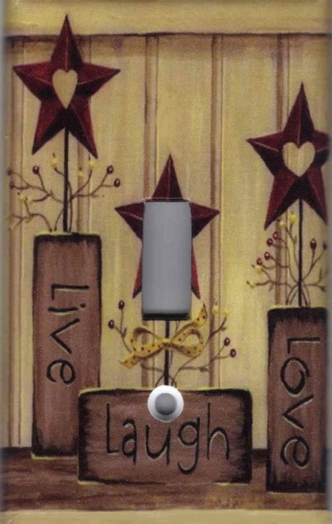 home decor star country barn star live love laugh home wall decor light