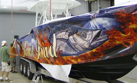 pin by valley screen process on boat graphics pinterest - Boat Wraps Michigan