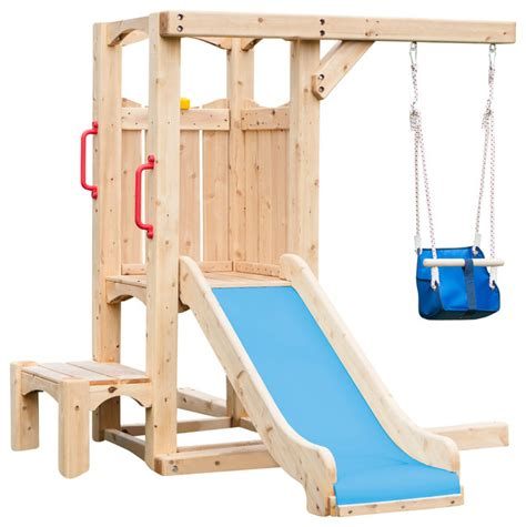 childrens wooden swing and slide sets cedarworks frolic 4 swingset traditional kids playsets