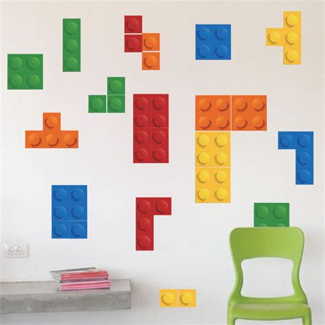 lego wall stickers wall