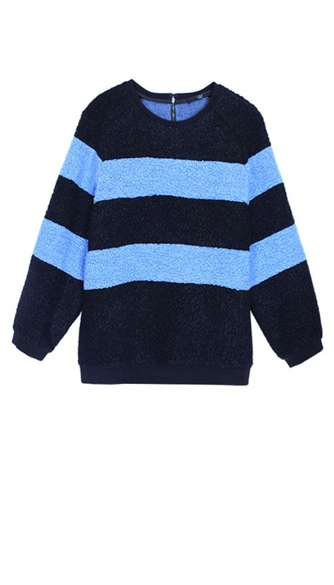 Dress Crop Panda Stripe tibi panda stripe sweatshirt