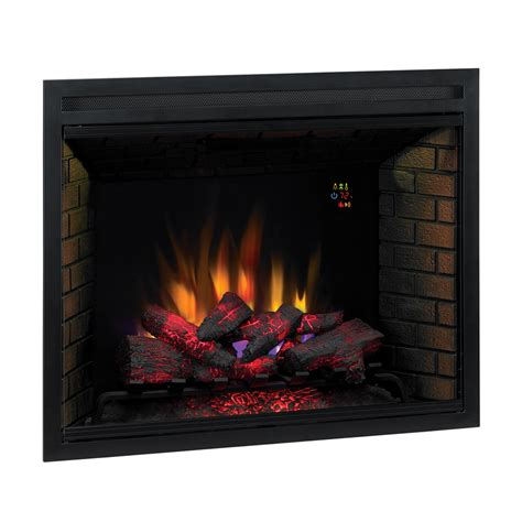 electric fireplace logs lowes shop classicflame 38 9 in black electric fireplace insert