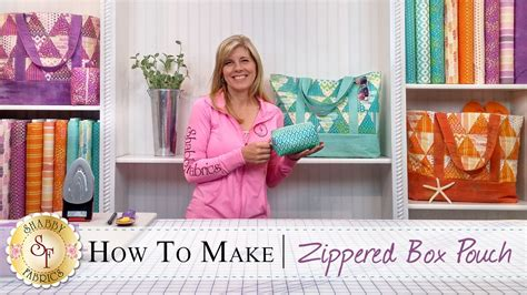 how to make a zippered box pouch a shabby fabrics sewing