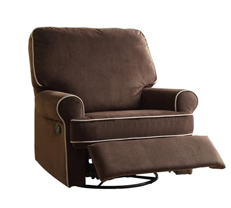 Top Recliner by Home Meridian International Birch Hill Swivel Glider
