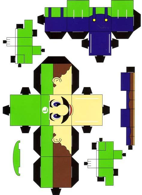 Papercraft Luigi - luigi cubee by paperart on deviantart