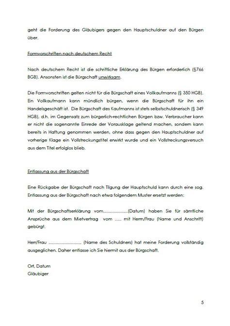 Musterbrief Kündigung Der Wohnung Mietb 252 Rgschaft Eltern Vorlage Zum