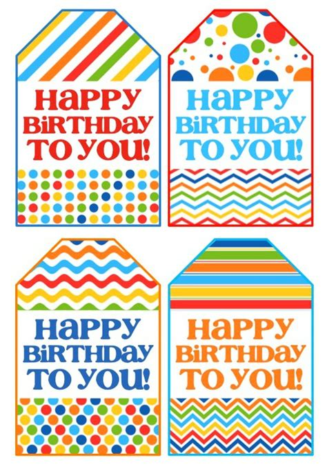 Printable Birthday Gift Tags Cards - birthday gift in a jar free printable birthday gifts and birthdays
