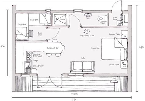 Simple Living In A 494 Sq Ft Modern Prefab Curvy Tiny Cabin Eco Cabin House Plans