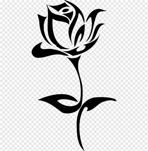 sketsa gambar bunga animasi hitam putih