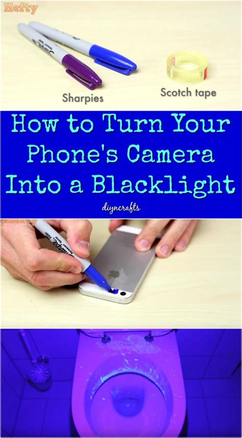 turn on phone light how to turn your phone s into a blacklight diy