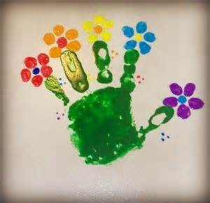 arts and craft for toddler hand print flowers 2