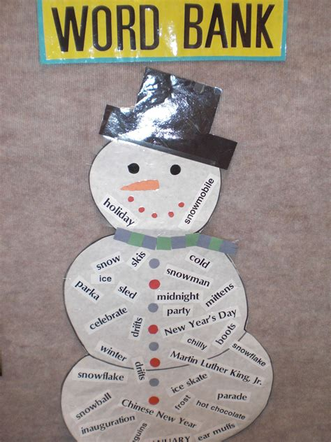 january craft projects patties classroom snowflake snowmen and winter poems