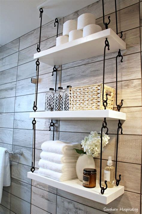 How To Decorate Bathroom Shelves Best 25 Bathroom Shelf Decor Ideas On