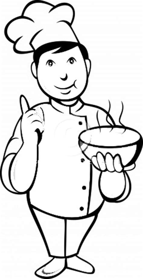 chef free colouring pages