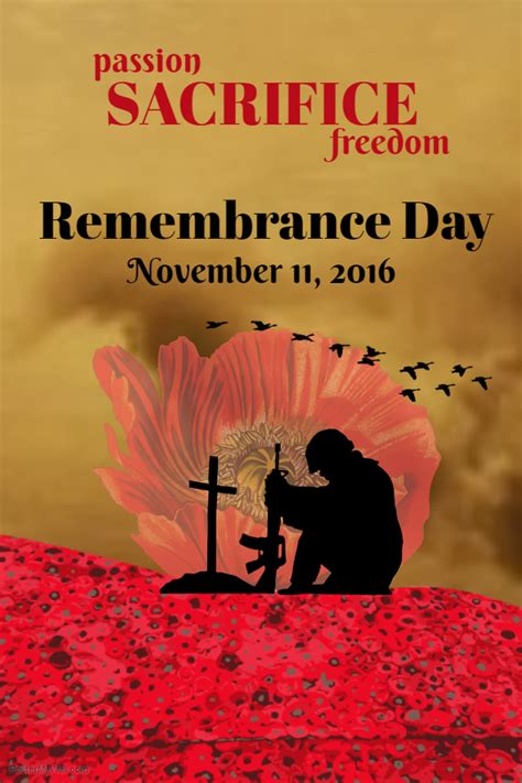 Day Poster Template by Create Remembrance Day Posters Design Studio