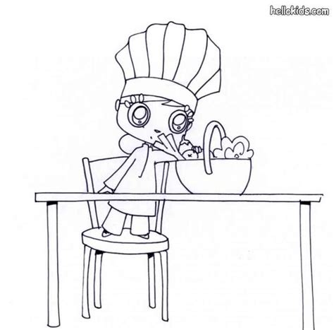 girl chef coloring page chef hat coloring pages www pixshark com images