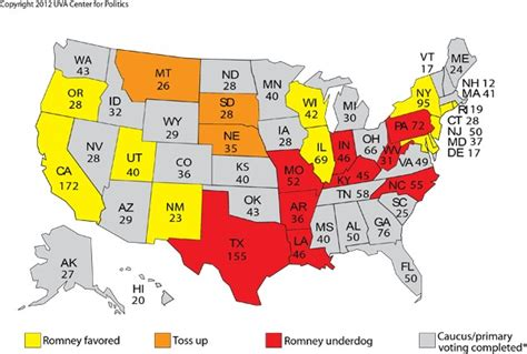 Us Delegates By State Romney Set To Dominate Race Through April Rasmussen Reports