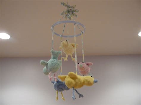 mobile pattern library crochet baby birdie mobile pattern knitting crochet