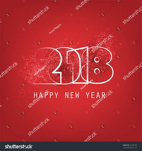 happy new year creative wishes best wishes abstract modern style happy stock vector