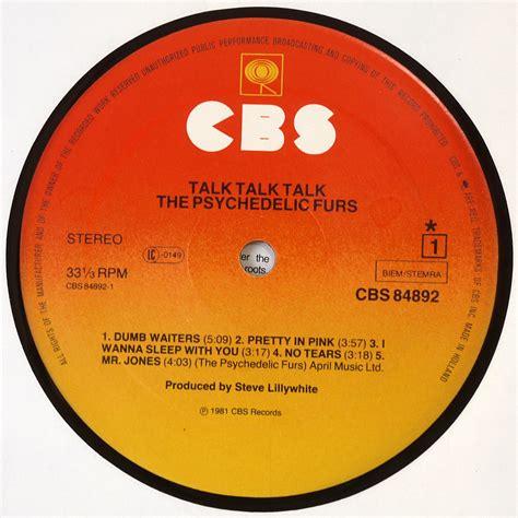 vinyl format cd the psychedelic furs talk talk talk dutch 1st pressing