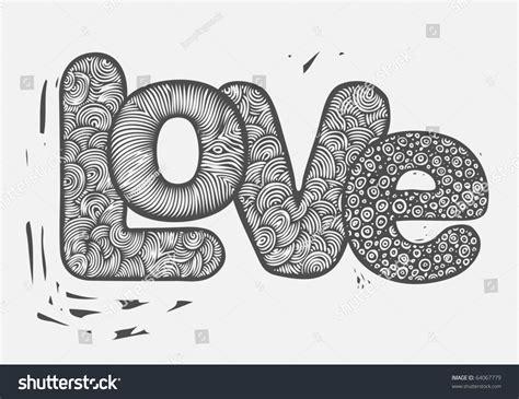 doodle text letters doodles text stock vector 64067779