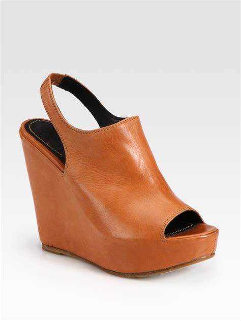 Sling Back Platform Sandals elizabeth and leather slingback wedge platform
