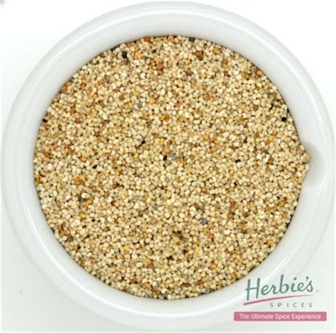 poppy seeds white whole 40g herbie's spices