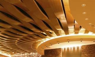 Curved Ceiling by Acoustic Suspended Ceiling In Wood Tile Curved