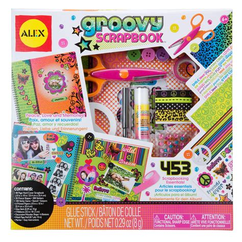 arts and craft kits for alex toys craft groovy scrapbook kit alexbrands