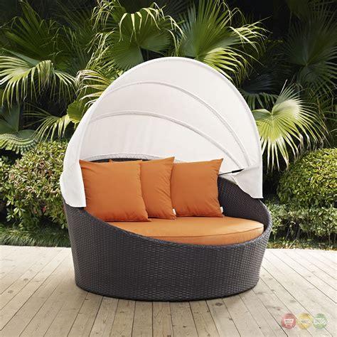 convene modular rattan outdoor patio canopy daybed