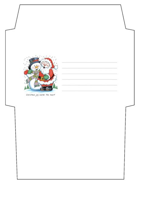 christmas envelope template by cpchocccc on deviantart