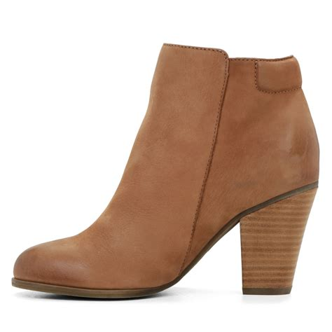 aldo brown boots aldo janella zip ankle boots in brown lyst