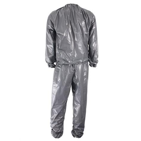 Sauna Suit Baju Celana Sauna Slimming Suit unisex pvc sweat sauna suit cloth lose weight slimming fitness at banggood