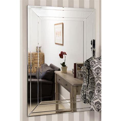 large detailed venetian frameless wall mirror homesdirect