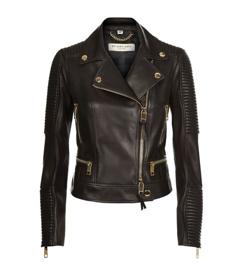 Burberry Leather Quilted Jacket by Burberry Mossgrove Quilted Leather Biker Jacket In Black