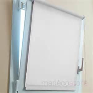 store enrouleur occultant blanc 37x170cm stores rideau