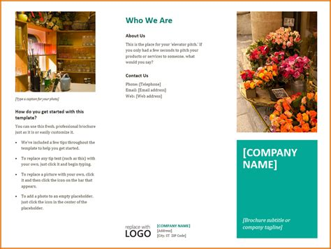 free brochure design templates word 13 free brochure templates for microsoft word
