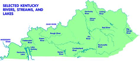kentucky map with rivers and lakes 302 found
