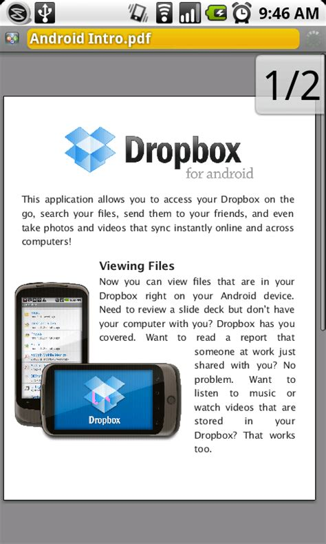 dropbox for android dropbox brings its uber easy file sync app to the android