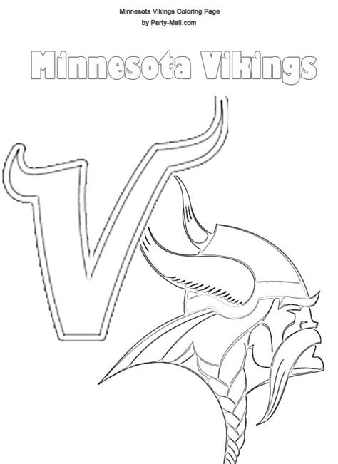 nfl vikings coloring pages minnesota vikings logo stencil minnesota vikings