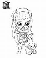 Coloriage bébé monster high, dessin à imprimer fille monster high ...