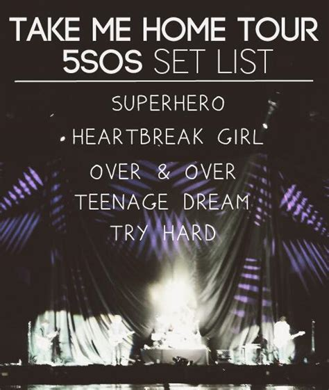 don t bore us on quot the boys set list for the take