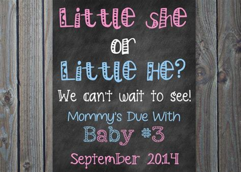 Is Expecting Baby Number Three by Printable Big Big Pink Or Blue