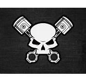 View Full Size Skull &amp Crossed Pistons Illustration