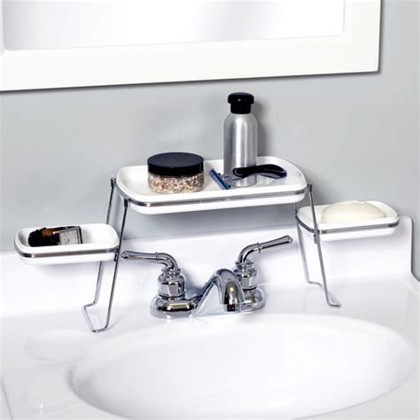 Small Spaces Over The Faucet Shelves Walmart Com Walmart Bathroom Shelves