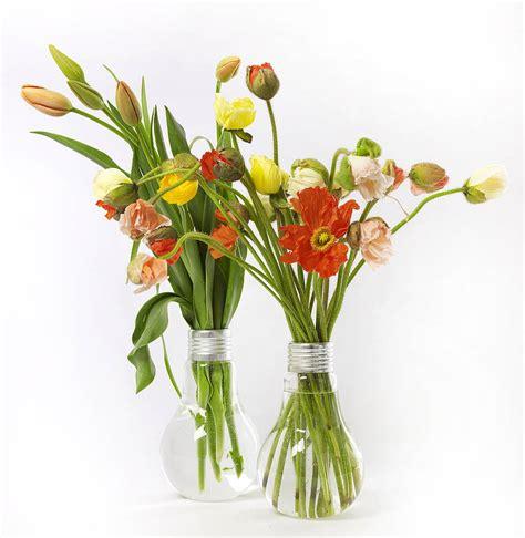 flowers in light bulbs lightbulb vase by garden trading